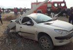 تصادف 206 با تیر برق در کازرون
