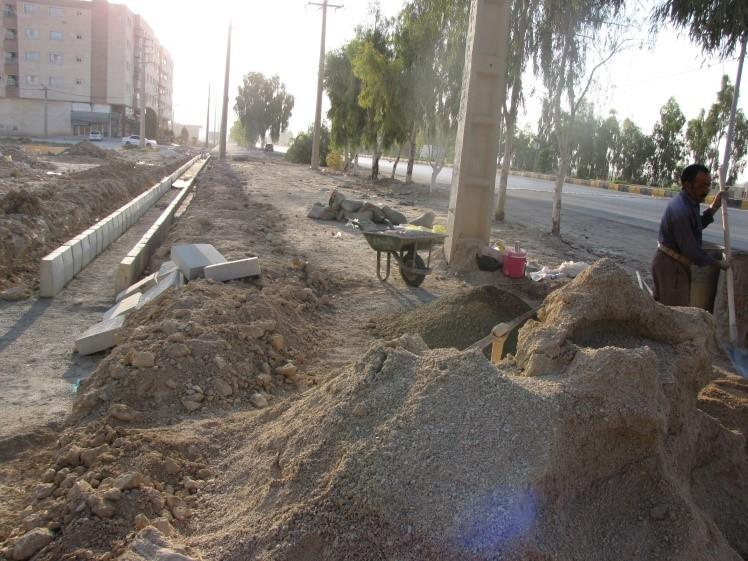 پروژه های عمرانی شهرداری کازرون