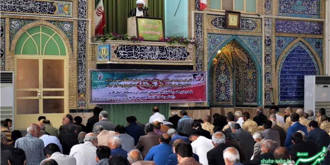 نمازجمعه کازرون/ حجت الاسلام شیخ محمد خرسند